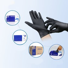 Household Cleaning Washing Disposable Mechanic Gloves Black Nitrile Laboratory Nail Art Anti-Static Gloves For Security new 100pcs 12 disposable white nitrile gloves anti static oil proof safety gloves s m l size for medical use tattoo