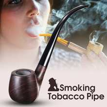 Long Handle Wooden Smoking Pipe Tobacco Cigarettes Cigar Pipes Smoke Accessories for Boyfriend Father's Day Gift