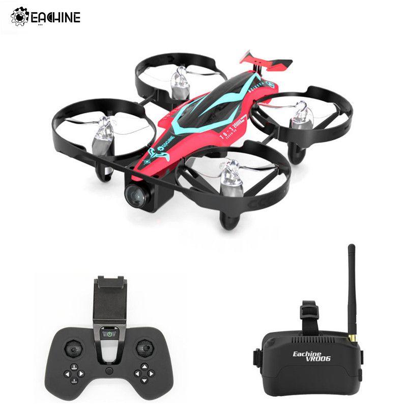 Eachine E013 Plus Micro FPV Racing Drone Anti-Turtle Mode W/ 5.8G 48CH 1000TVL Camera VR006 Goggles