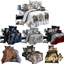 4 IN 1 Bedding Set Bed Sheet 3D Animal Prints Sanding Quilt Cover 1 x Duvet Cover 1 x Flat Sheet 2 x Pillow Cases 4 IN 1 Kits(China)