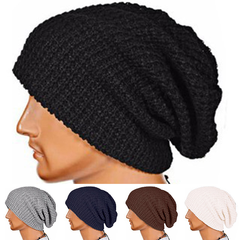 Fashion Unisex Chic Men Women Warm Winter Knit   Beanie   Skull Slouchy Oversize Hiphop Cap Hat
