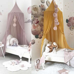 Canopy Crib-Netting Curtain Bedding-Decor Mosquito-Net Bedcover Hung-Dome Baby Princess