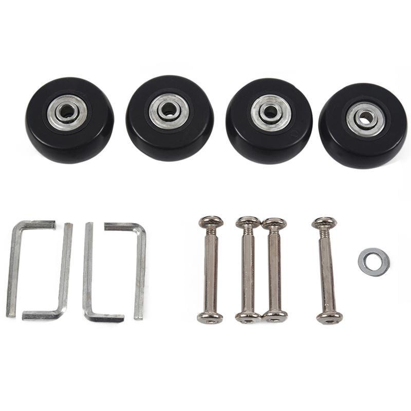 40 X 18mm Luggage Suitcase Wheels Replacement Repair Kit 2 Pair