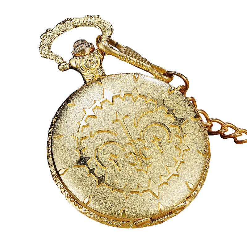 New Quartz Pocket Watch Innovative Design Golden Queen Law Bar Thick Chain Quartz Pocket Watch