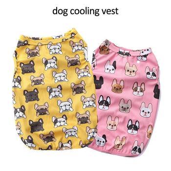 الكلب الملابس حيوانات أليفة صيف التبريد تي شيرت سترة سريعة سترة تبريد جرو تي شيرت معطف اكسسوارات الملابس ازياء الحيوانات الأليفة الملابس p40