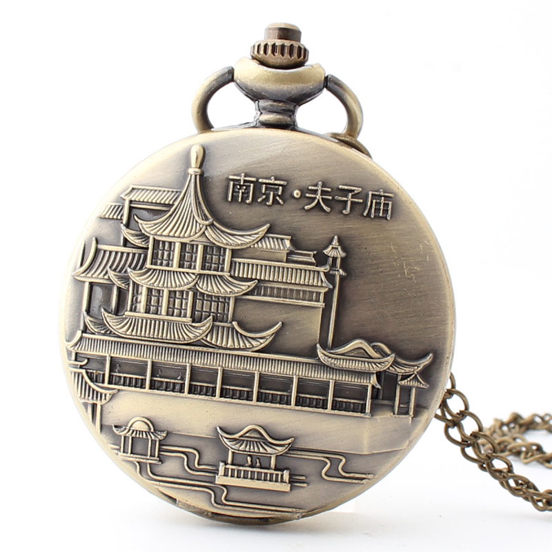 Permalink to Pocket & Fob Watch Bronze Nanjing Confucius Temple Pocket Watch Necklace Pendant Watch Chain Xmas Watch Gift Men/Women