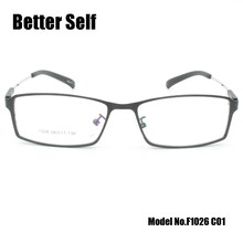 F1026 Full Rim Optical Frames Slim Memory Titanium Spectacles Soft Eyewear Gent Eye Glasses