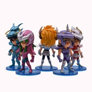 Image 2 - 5 pcs/set Anime Saint Seiya Knights of the Zodiac Action Figure PVC Figurine Collectible Model Christmas Gift Toy