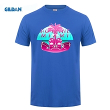 GILDAN Hotline Miami Logo Mens T Shirt Letter Character Funny Printed Game T-shirt Male Casual  Tees Streetwear Summer Clothes