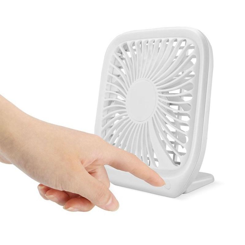 HOT Portable 3 Files Adjustable Mini Usb Charging Noiseless Desktop Electric Fan For Home Gift Decoration