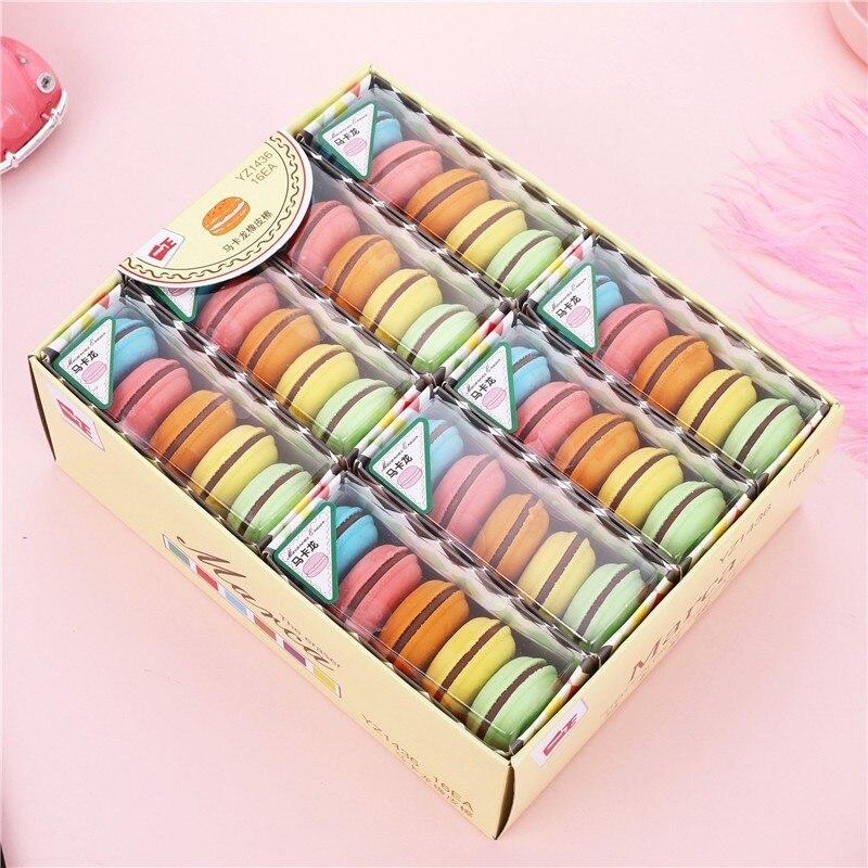 1lot Kawaii Cute Novelty Macaron Rubber Eraser For Kids Creative Kawaii Stationery School Supplies Papelaria Gomme 00612