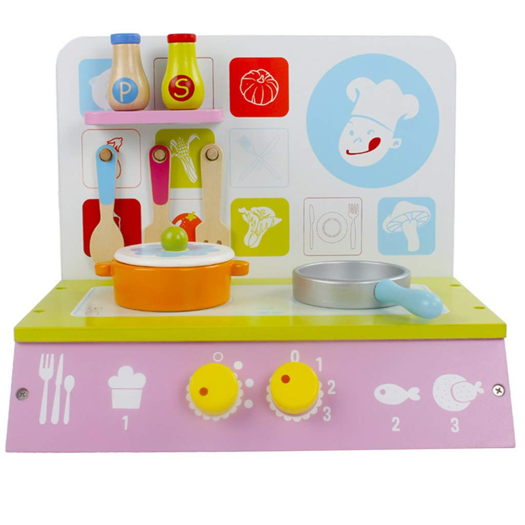 Wooden Miniature Cookware Set Doll House Kitchen Furniture Role Playing Game Educational Toys for Children Toddler Kids