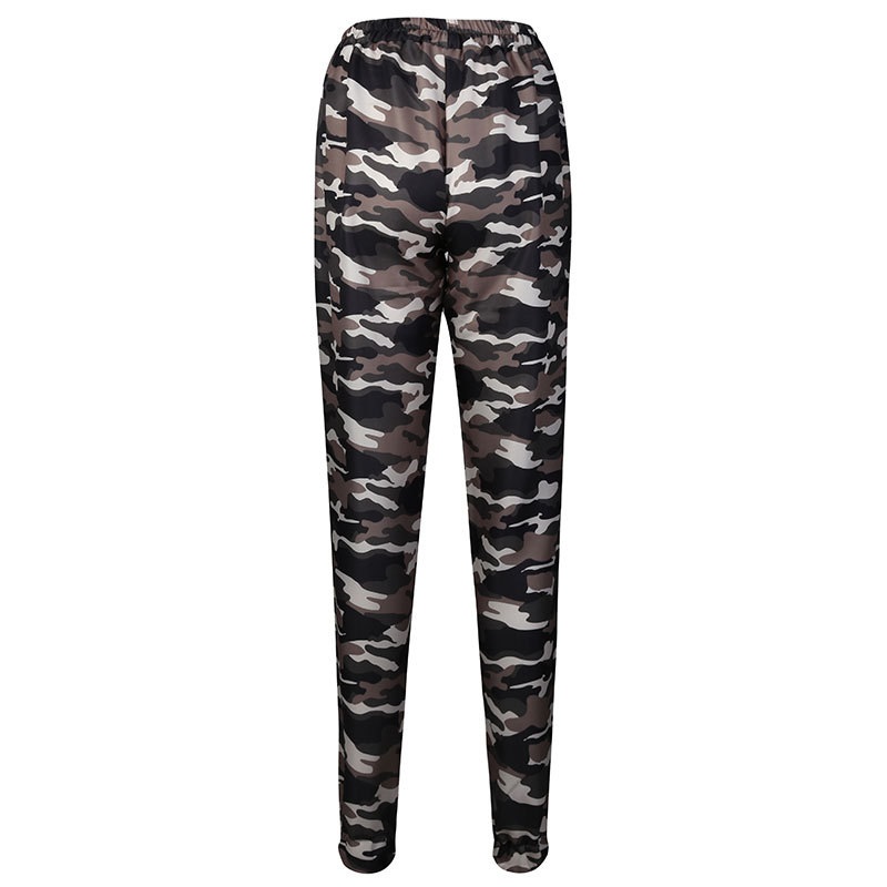 2019 New Stylish Women Camouflage Pants Camo Cargo Joggers Military Army Harem Trousers 6
