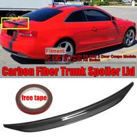 1x Real Carbon Fiber Car Trunk Spoiler Wing Lid For AUDI S5 RS5 2Dr Coupe A5 2009 2016 Sedan CAT Style Racing Spoiler Wing