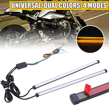 2pcs 29.5cm Car Amber White LED DRL Brake Motorcycle Turn Signal Light Strip Accessories Universal for Automobile