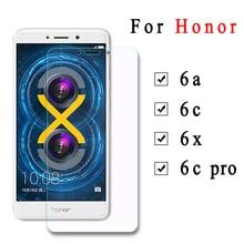 2 шт. закаленное стекло для huawei Honor 6c 6a 6 X C6 A6 X6 Защитная пленка для экрана 6cpro Защитное стекло для Honor 6x6 C Pro стекло