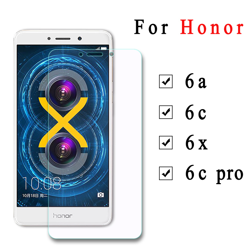 2 PCS Tempered Glass For Huawei Honor 6c 6a 6 X C6 A6 X6 Screen Protector Film 6cpro Protective Glass For Honor 6x 6 C Pro Glass(China)