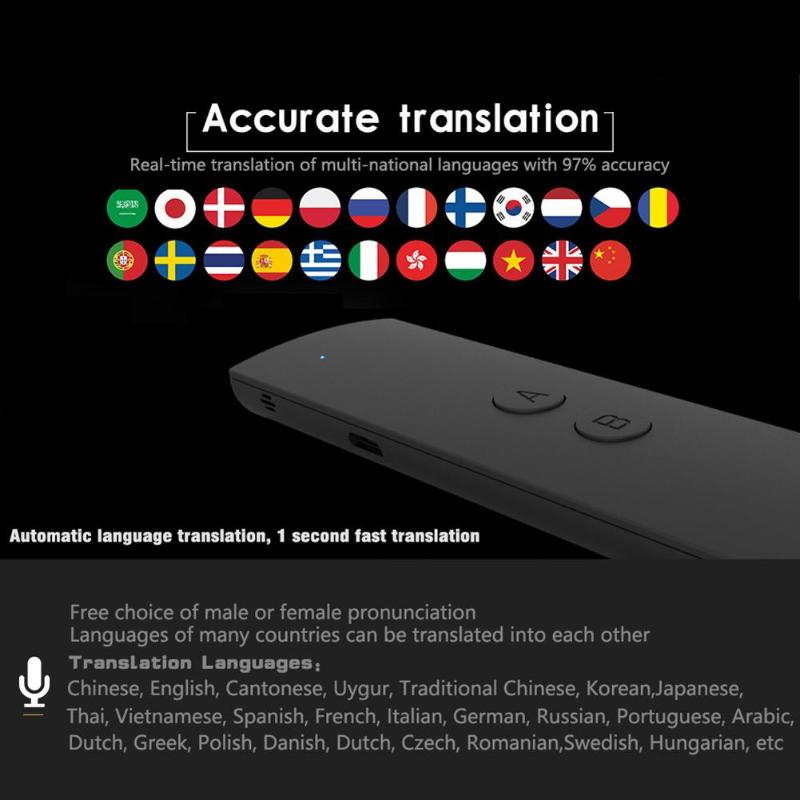 Portable Smart Voice Translator Instant Voice 38 Languages APP Hot Translator Interpreter for Learning Travel Business Meeting image