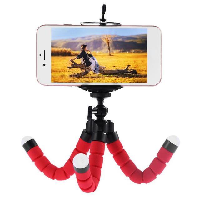 Мини Портативный Гибкий штатив для телефона с губкой Осьминог подставка держатель камеры кронштейн для iphone смартфон для камеры Gopro