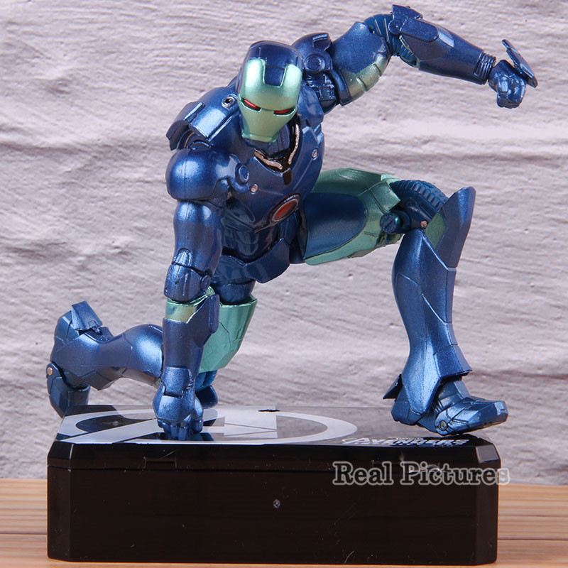 Marvel Avengers Irom Man Action Figure SHF S.H.F. Figuarts PVC Collectible Model Toy Blue Iron-man 15cm image