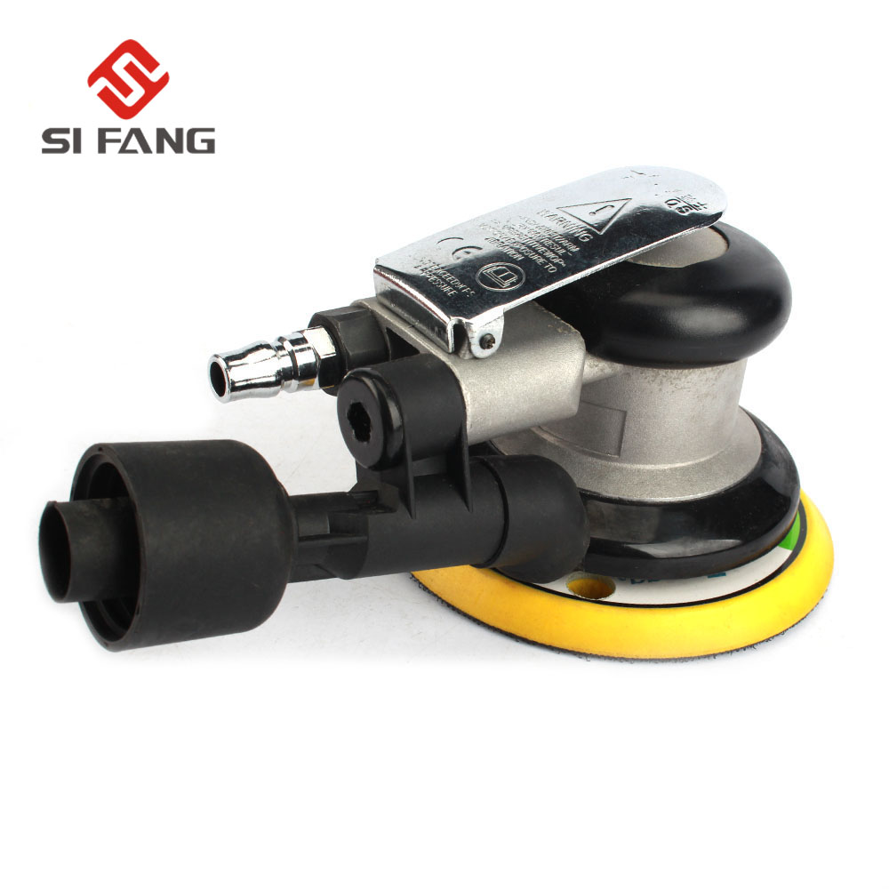 SI FANG 5 Vacuum Type Random Orbit Air Sander Sander Pneumatic Grinding Sanding Polishing Machine Car Polisher Dual ActionSI FANG 5 Vacuum Type Random Orbit Air Sander Sander Pneumatic Grinding Sanding Polishing Machine Car Polisher Dual Action