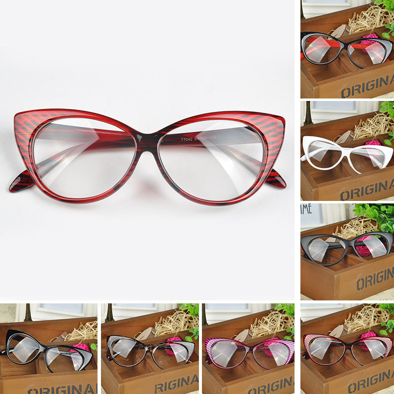 Plain Eye Frame Sunglasses Spectacle Cat Eye glasses Birthday Gift Eye Styling Leopard Sun Glasses Frame