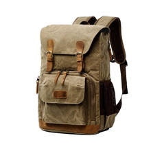 Batik Canvas Camera Backpack Outdoor Waterproof Bag Multi-Functional Photography Bag For Canon For Most Digital Slr Bag(China)