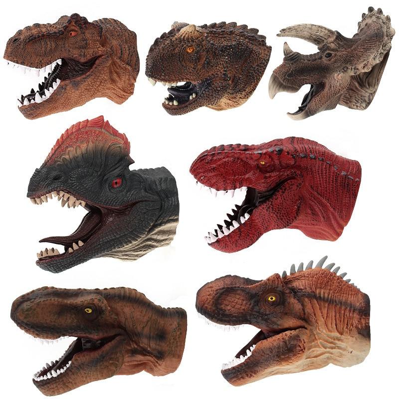 Anak Anak Permainan Anak Anak Dinosaurus Boneka Tangan Lem Fleksibel Sarung Tangan Mainan Hadiah Triceratops Allosaurus Double Headed Hewan Kehidupan Nyata Boneka Aliexpress