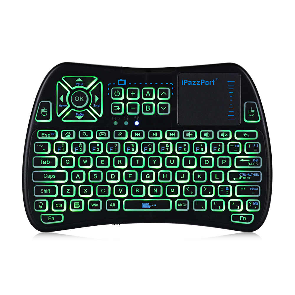 1607c4d94d0 ... iPazzPort KP - 810 - 61 Wireless Mini Keyboard Touchpad Backlight  2.4GHz WiFi IR Learning ...