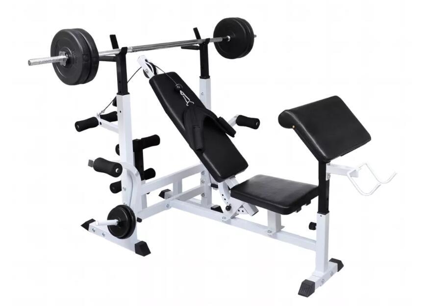 Vidaxl multi station weight bench press leg curl home gym weights