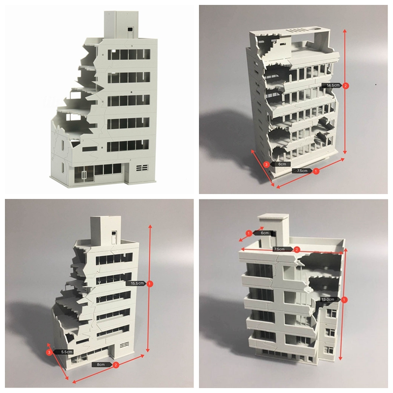Ruined Building 1/144 After War Modern Assembling Outland Model For Gift 3 StyleRuined Building 1/144 After War Modern Assembling Outland Model For Gift 3 Style
