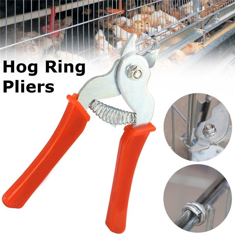 15,6x12 Cm Mangan Stahl Hog Ring Zangen Werkzeug M Förmigen Clips Heftklammern Vogel Huhn Mesh Käfig Draht Fechten Netting Durable Werkzeug