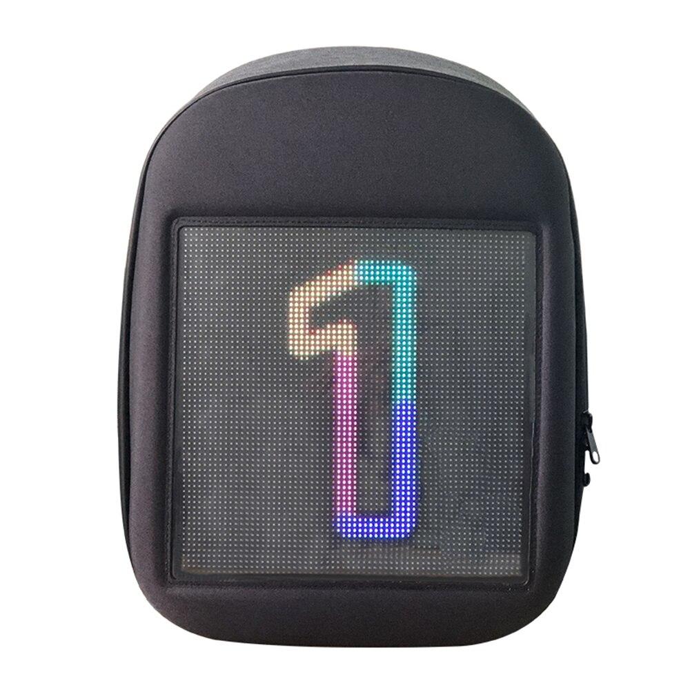 Écran LED dynamique publicité sac à dos bricolage wifi LED ville marche publicité sac pour ordinateur portable lumière - 6