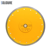 Hot sintered 9 inch 230mm X shape super thin diamond ceramic cutting blade for ceramic and porcelain tiles