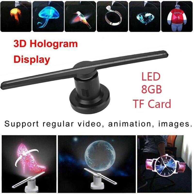 3D LED реклама голограмма проектор вентилятор голограмма голографический дисплей плеер реклама с SD Wifi