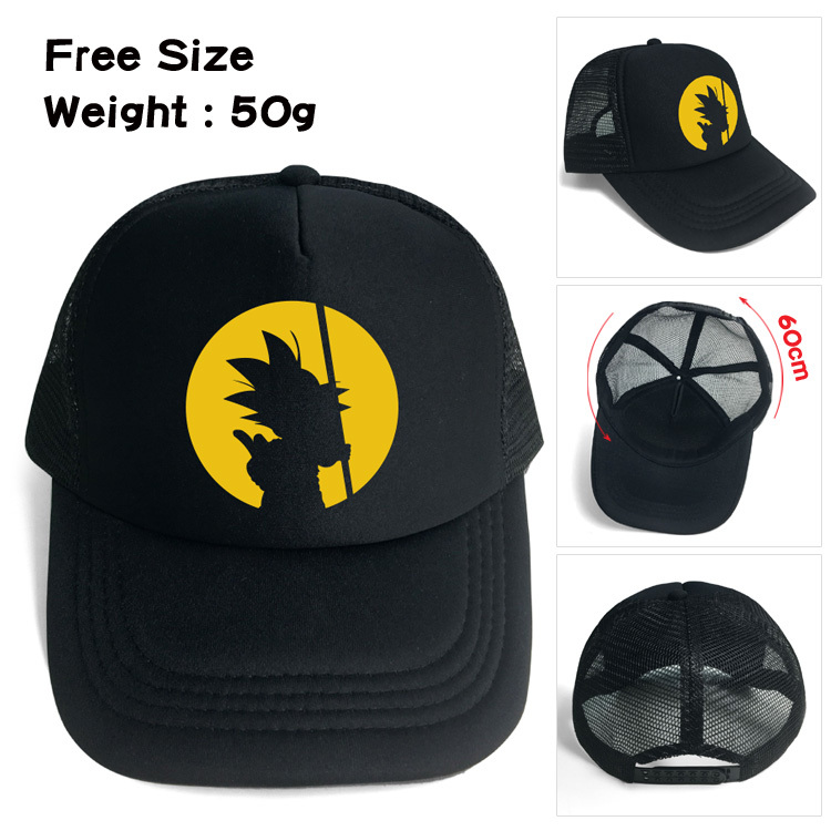 Anime DragonBall Z 4 estrella negro sombrero de béisbol Snapback ajustar  tapa de malla Son Goku 38774eebbf9