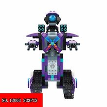New 333pcs Science And Technology Time Smart Series Remote Control Robot Robert Intelligence Plastic Building Blocks 13003(China)