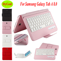 Wireless Bluetooth Keyboard Case For Samsung Galaxy Tab A T350 T351 T355 P350 P355 8.0''Tablet Protective Case PU Leather Cover