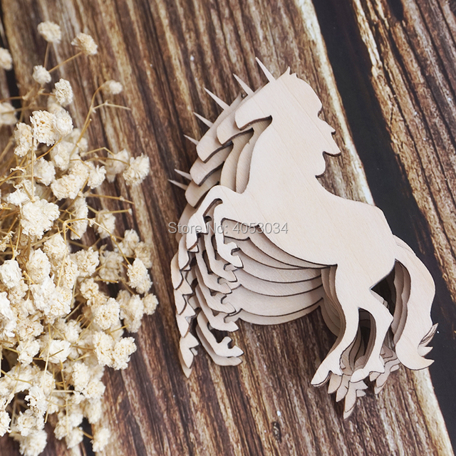 Wooden Unicorn Shape For Crafts Laser Cut Unicorn Birthday Unicorn