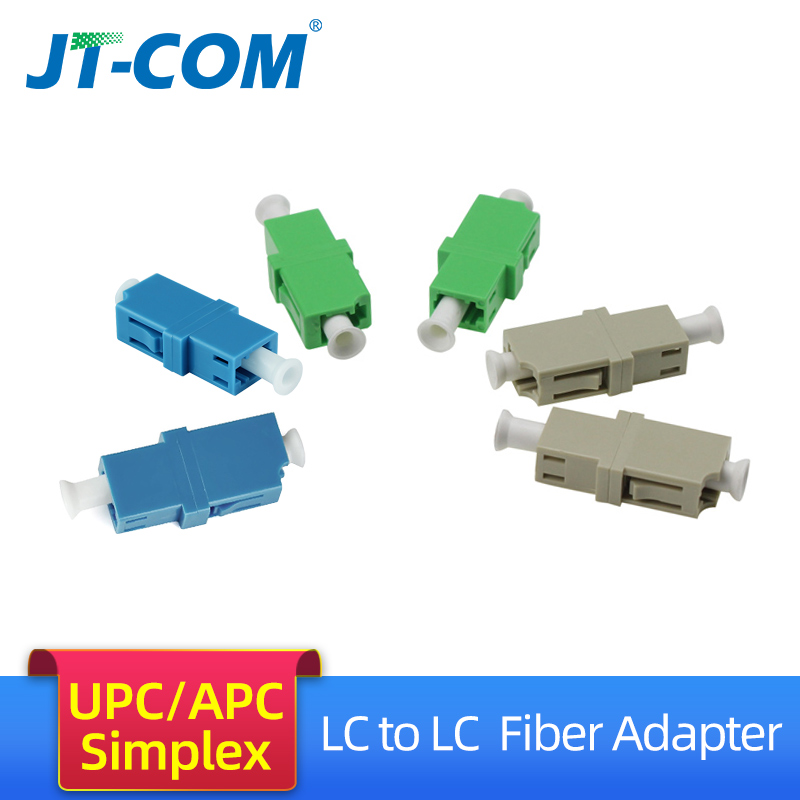 LC APC Simplex SingleMode FTTH fiber adapter  LC UPC SM optical fiber flange connector LC MM Multimode fibra optica coupler-in Fiber Optic Equipments from Cellphones & Telecommunications
