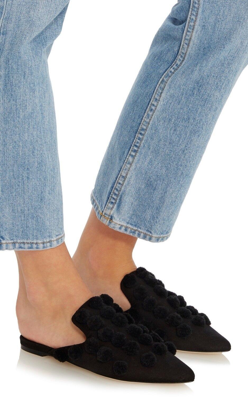 As Chaussures Femme Mules Printemps Pointu 2018 Nouveau Designer Babouches Marée De Bout D'automne Pics Pumpum Appartements Pantoufles Noir Pour xWBeCrod