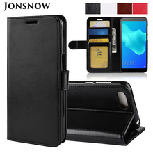 JONSNOW Flip Leather Case for Huawei Honor 7A DUA-L22 5.45 Russia Version Wallet Protective Cover Pro 5.7