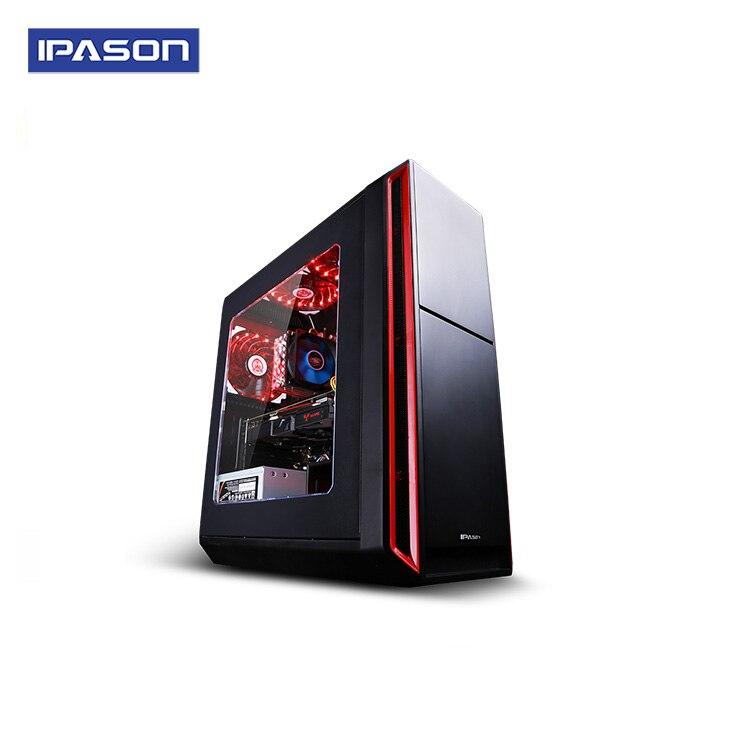 IPASON Intel 4-Core Gaming PC I3 8100 Latest Gen Dedicated Card 1650 4G DDR4 8G RAM 1T+120GSSD Desktop Computer