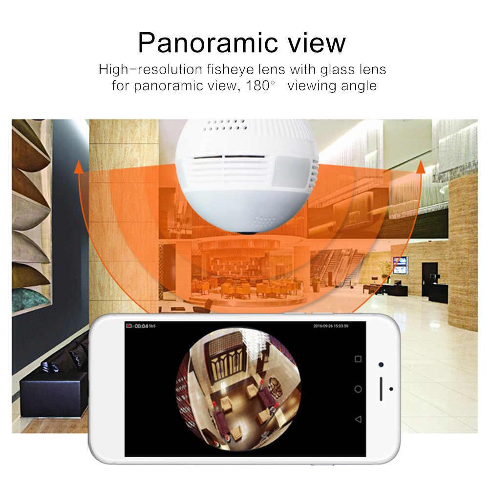 LED Light Bulb Lamp 960P Wireless Panoramic Home Security WiFi CCTV Fisheye Bulb Lamp IP Camera 360 Degree Home Security Burglar