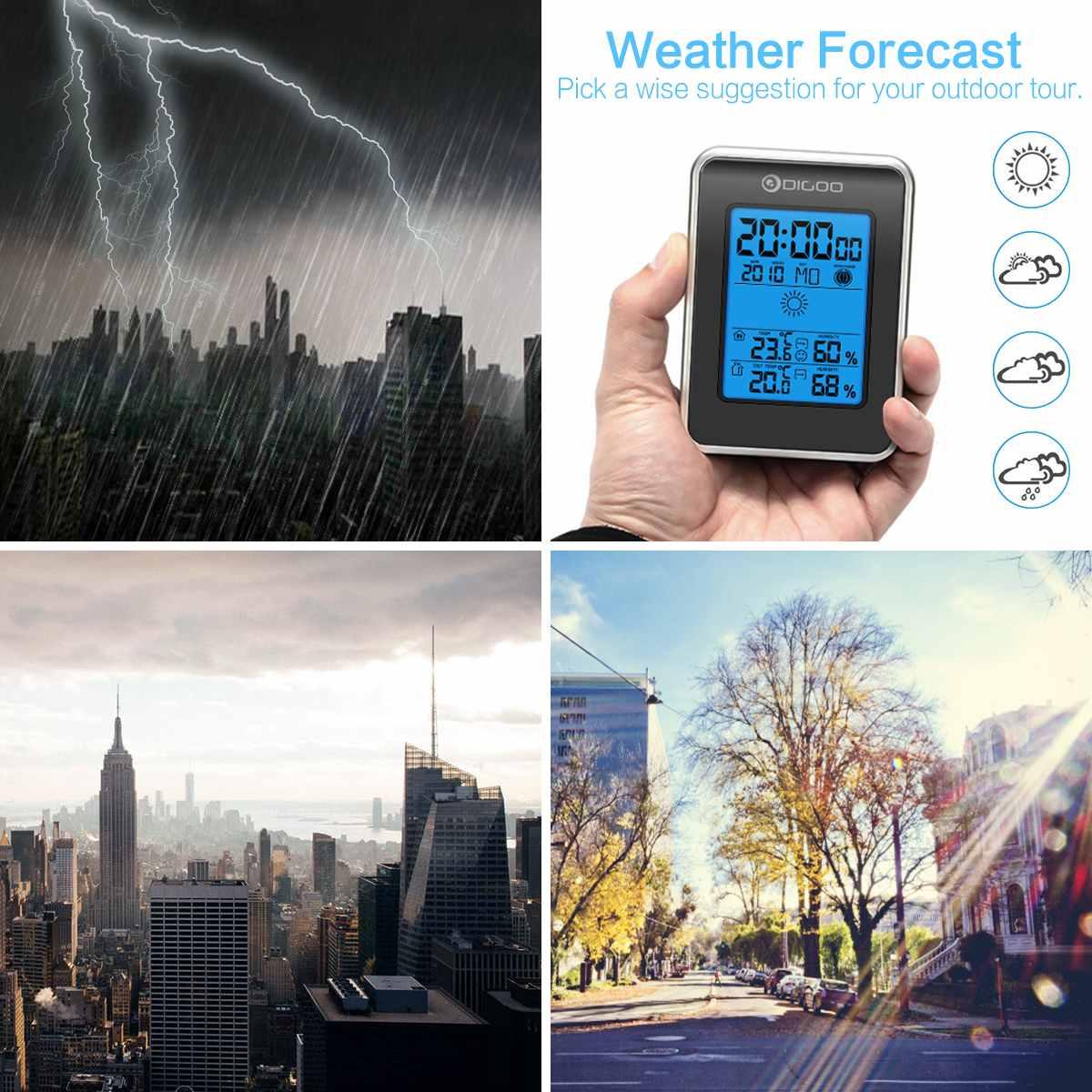 Digoo DG TH1981 LCD Digital Weather Station Wireless Outdoor Forecast Sensor Hygrometer Thermometer Clock Blue Backlit Digoo DG-TH1981 LCD Digital Weather Station + Wireless Outdoor Forecast Sensor Hygrometer Thermometer Clock Blue Backlit