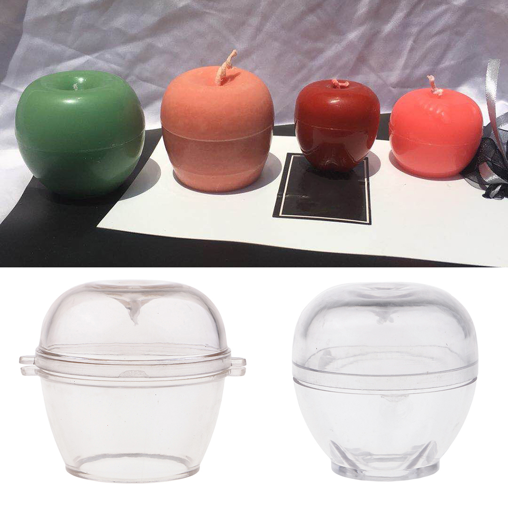 MagiDeal Apple Shape Candle Making Mold Soap Making Mould Tool For DIY Home Candle Wedding Christmas Scented Candle Craft