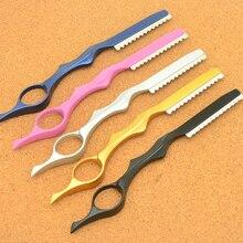 Профессиональные острые парикмахерские бритвы Meisha из нержавеющей стали, 1 шт., бритва для стрижки волос, филировочный нож, салонные инструменты HC0006