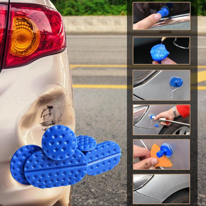 4pcs/5pcs Car Body Paintless Dent Glue Puller Head Dent Tabs Remover Automobile Auto Repair Tool Removing Dents The Latest Fashion Home