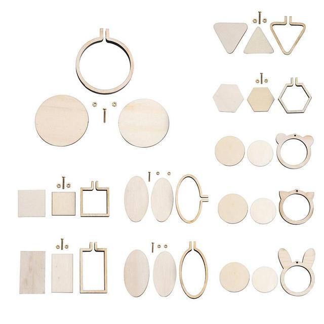 DIY Kruissteek Naaien Handgemaakte Steken Ambachten Tool Mini Houten Hoepel/Ring Borduurwerk Vast Frame