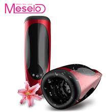 Meselo 7 Modes Licking Tongues Sucking Male Masturbator For Man Penis Trainer Rotating Thrusting Oral Blowjob Sex Toys For Men